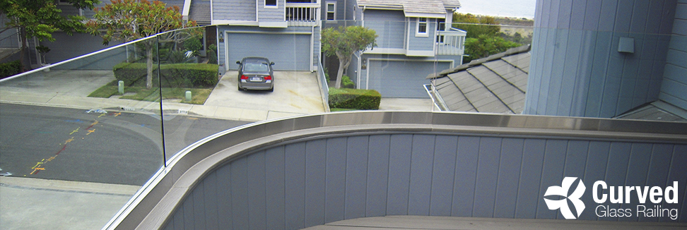 Curved Glass Railing Installation